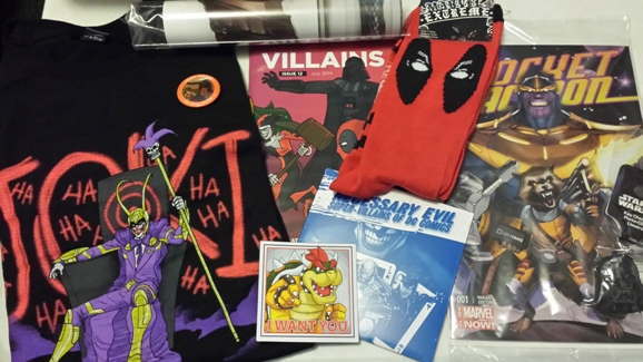 Loot Crate July 2014 Villains